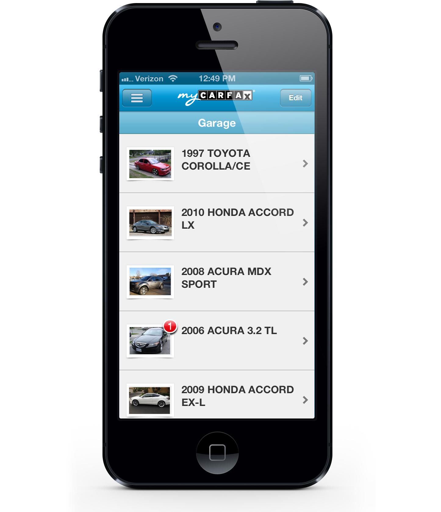 user experience and user interface design for carfax s mobile application mycarfax this application helps consumers manage their vehicle for maintenance