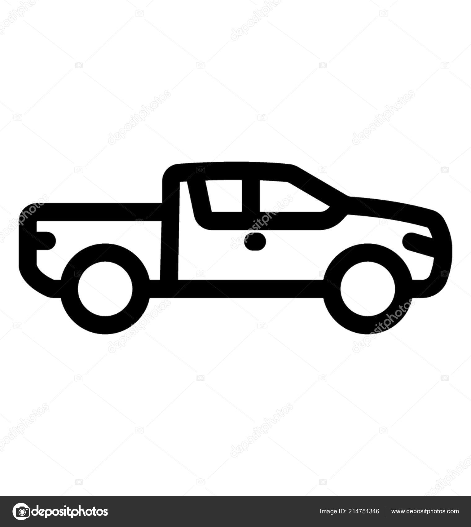 Use Truck Best Of Pickup Truck Family Personal Use — Stock Vector © Prosymbols