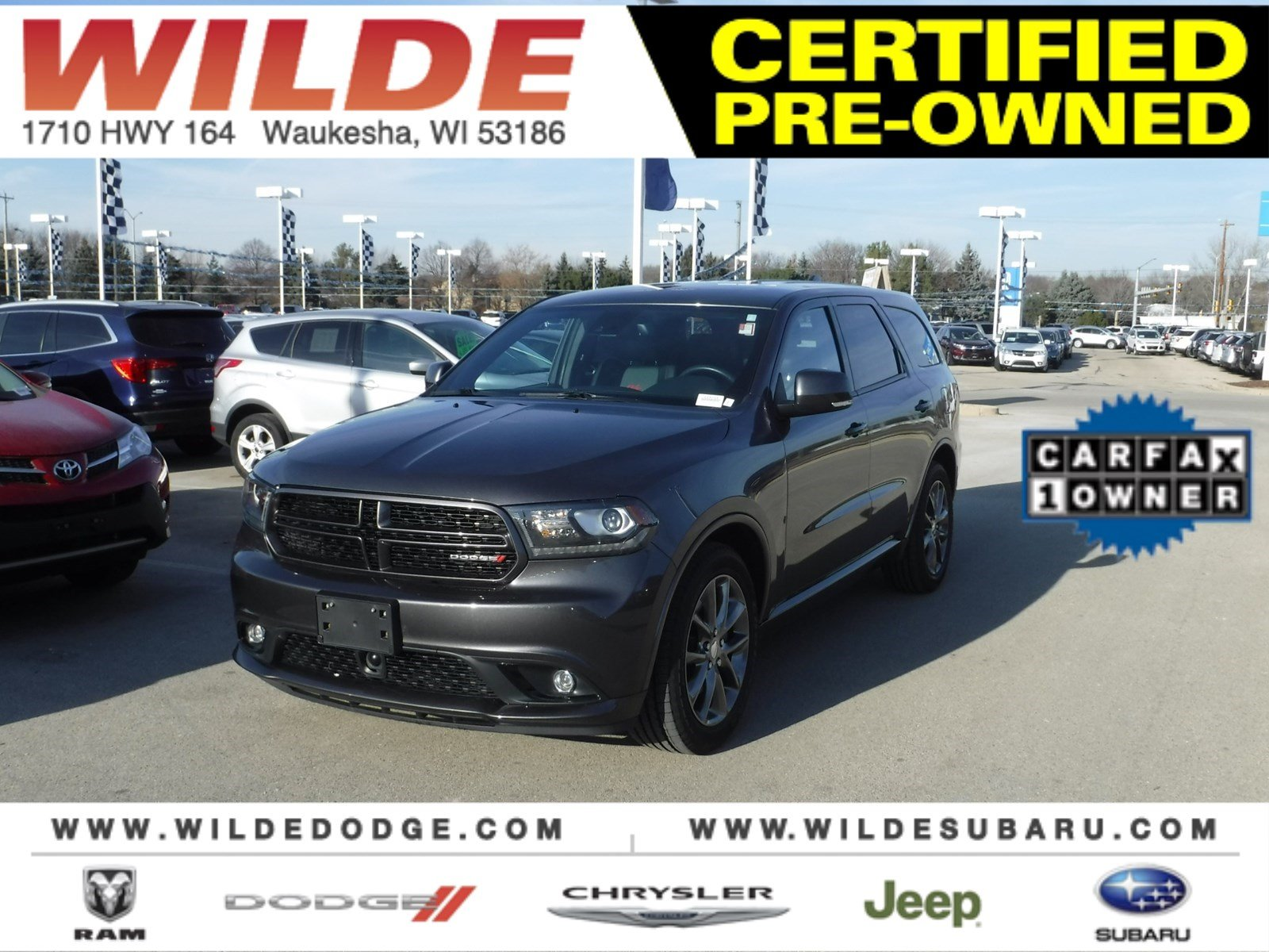 certified pre owned 2015 dodge durango r t