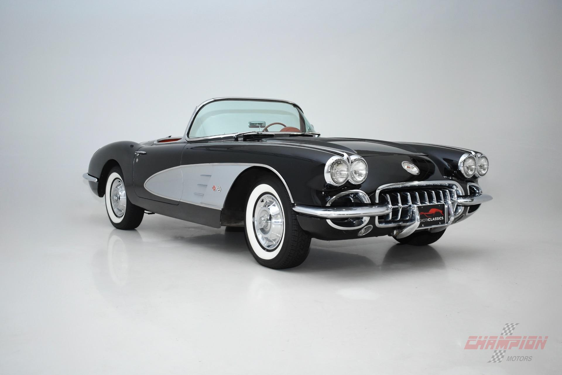 Classic Car Carfax Fresh 1958 Chevrolet Corvette Champion Motors International L Luxury
