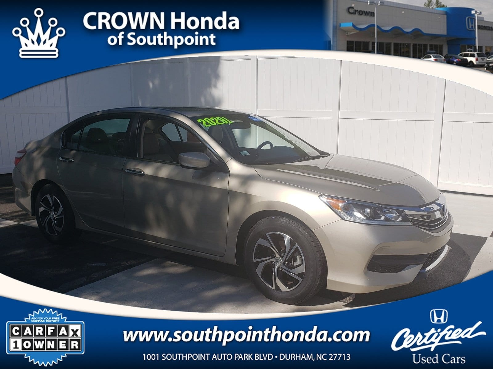 Carfax Used Cars Greensboro Nc Awesome Certified Used 2016 Honda Accord Lx for Sale In Greensboro Nc