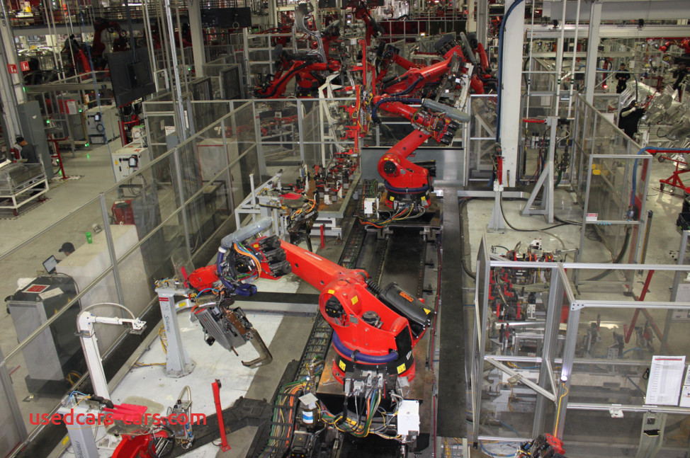 tesla completely inhuman automated factory 2017 5