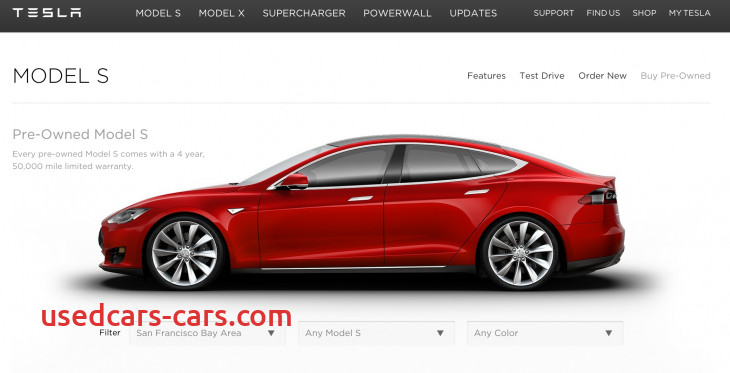 now you can buy a pre owned tesla model s from the companys new online marketplace