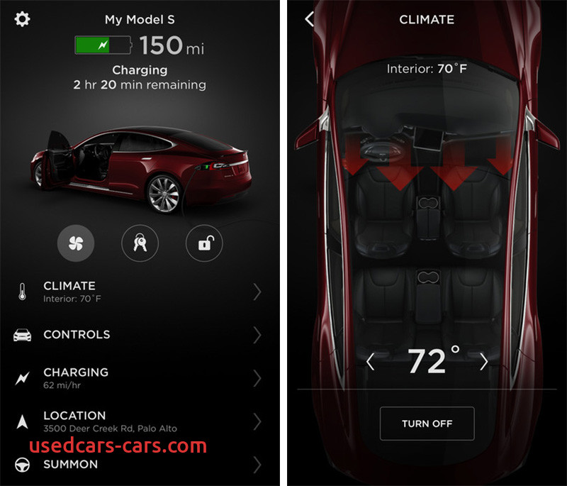 tesla app redesigned touch id support