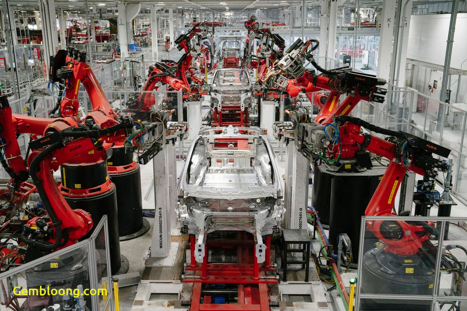 Tesla Factory Elegant Teslas Mass Layoffs and Reduced Car Production Have Wall