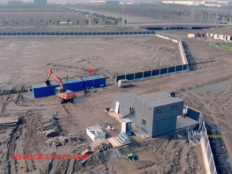 tesla chinese factory under construction video report 2018 12
