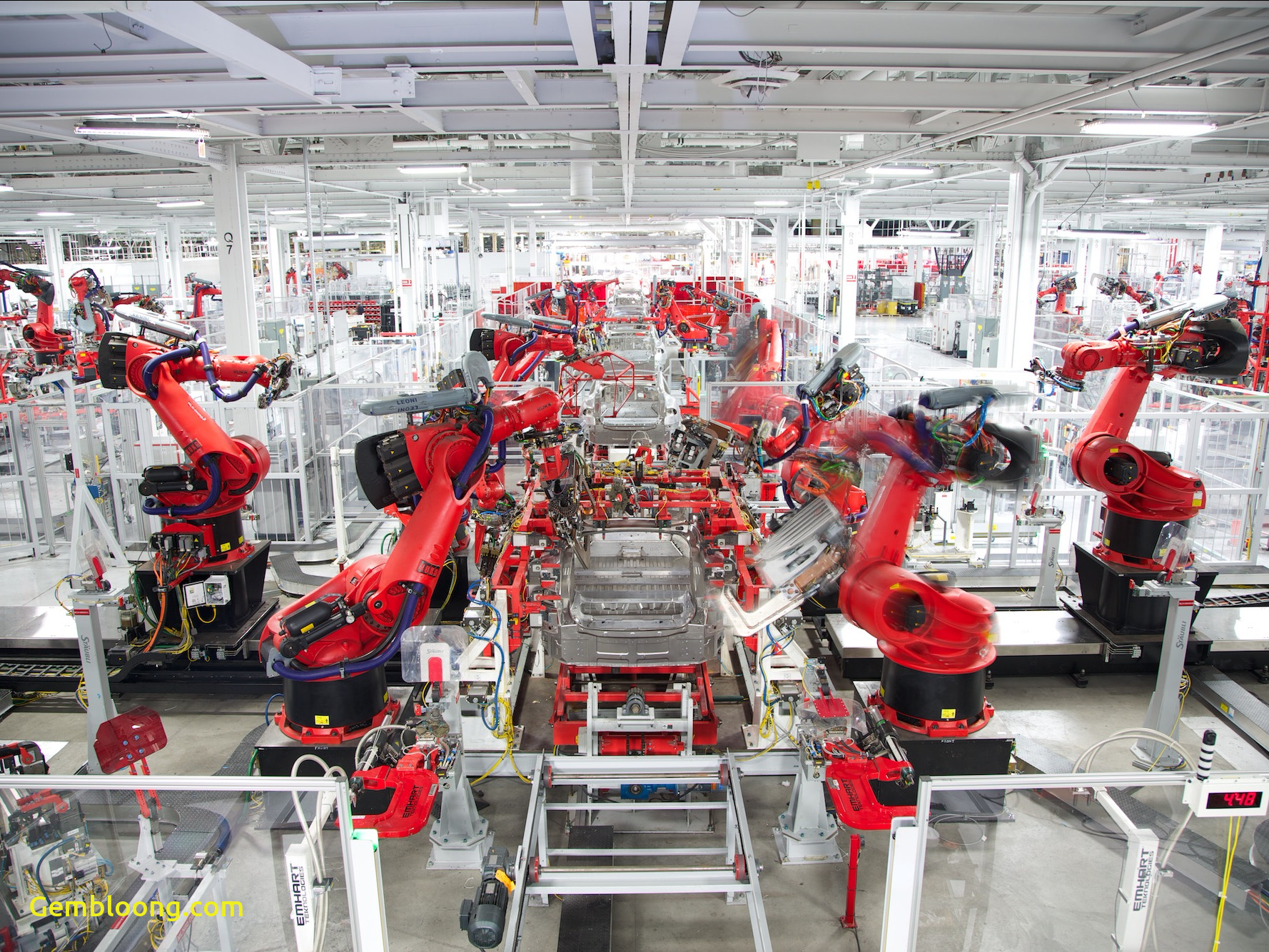 Tesla Factory Lovely Elon Musk Says He Agrees that there are too Many Robots On