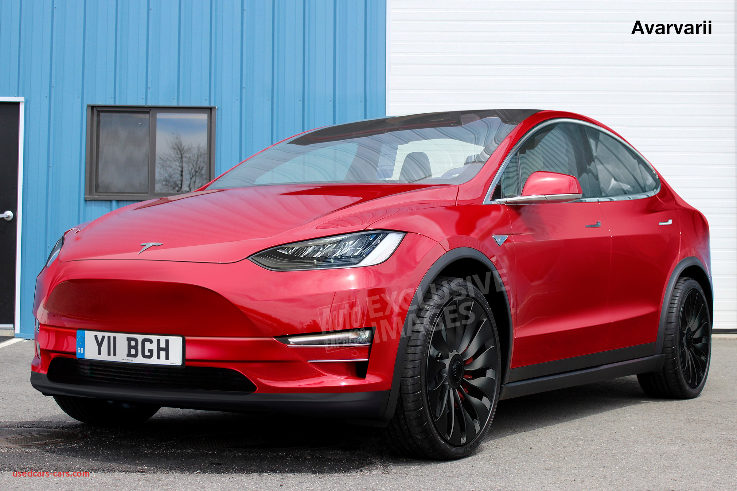 tesla model y is being is prepped for production