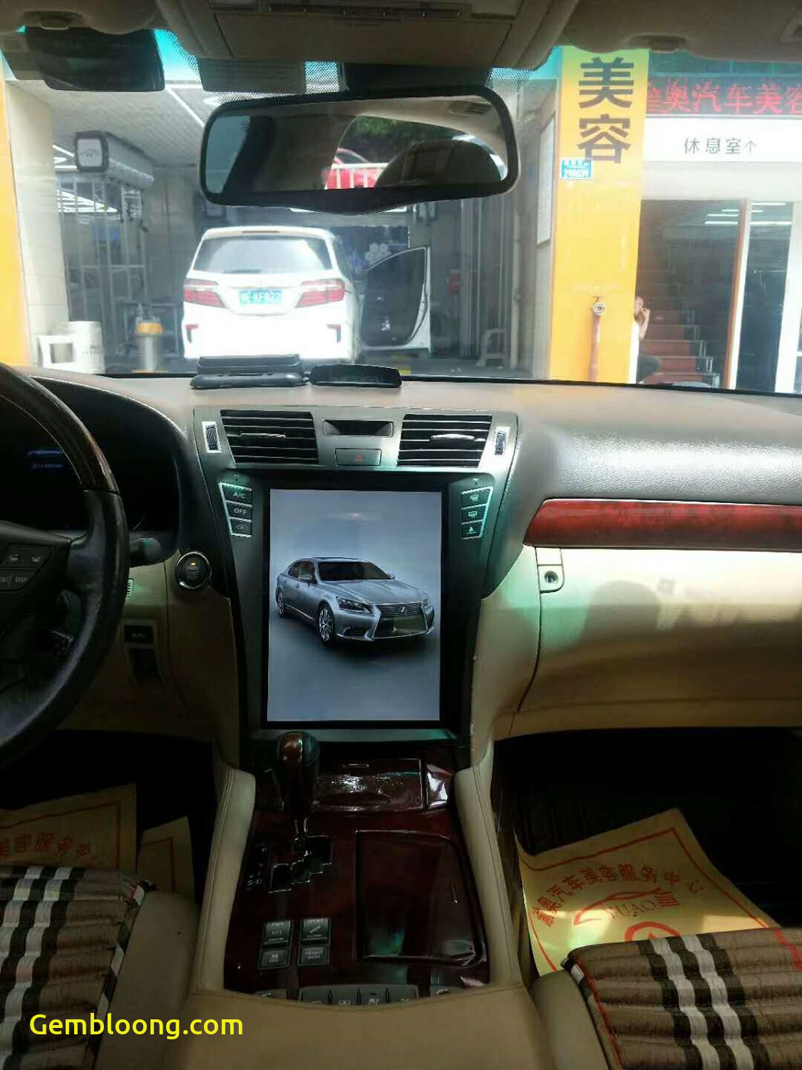 Tesla or Lexus Awesome Tesla Vertical Style android Car Radio for for Lexus Ls