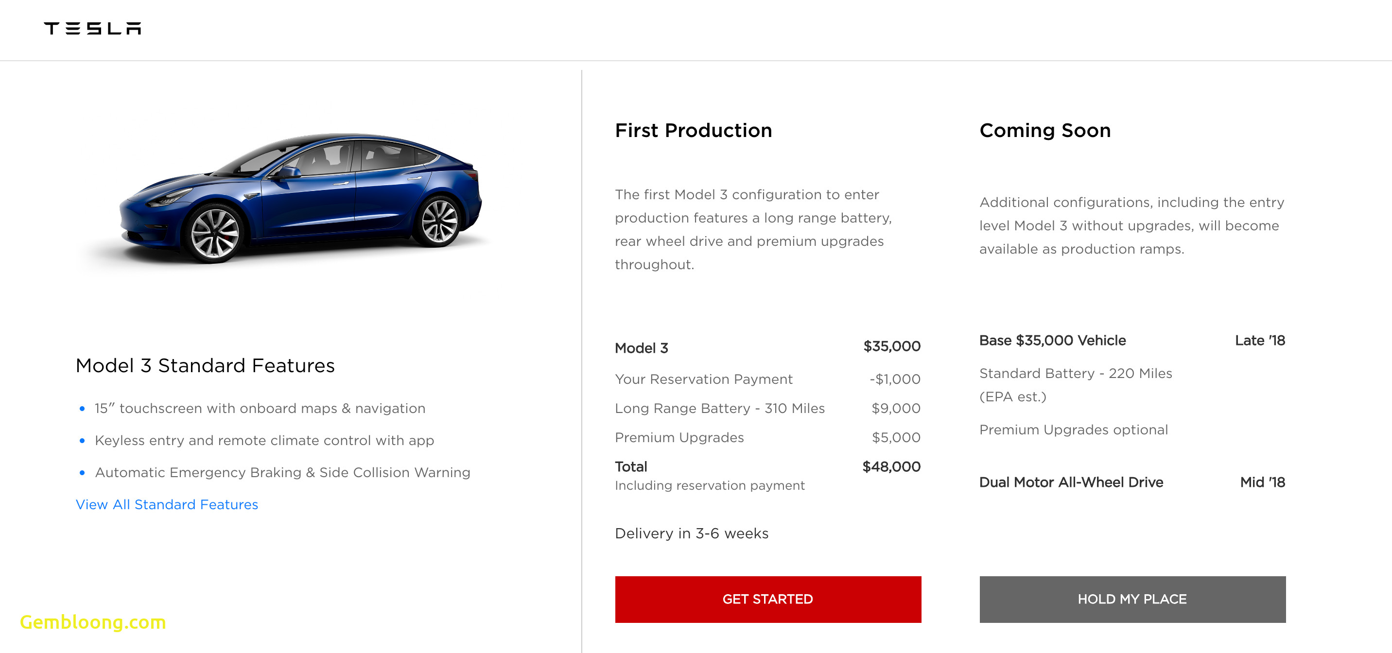 Tesla order Elegant orders Opening for Tesla Model 3 with Awd High