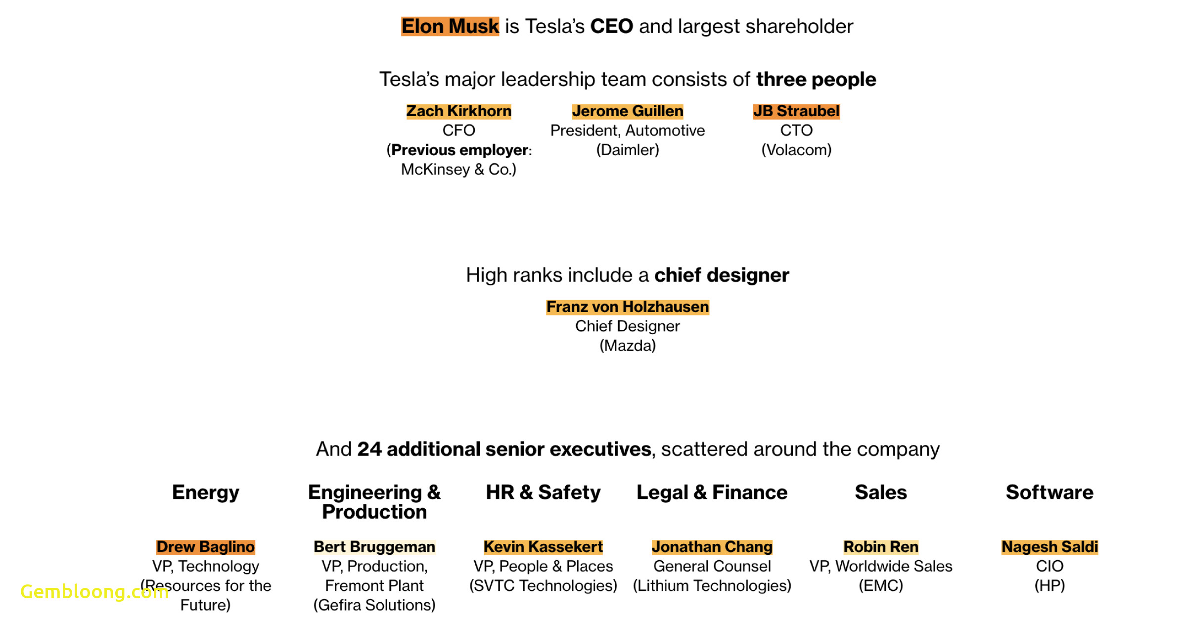 Tesla organizational Structure Fresh Elon Musk Doesnt Work Alone these are Teslas Other Key