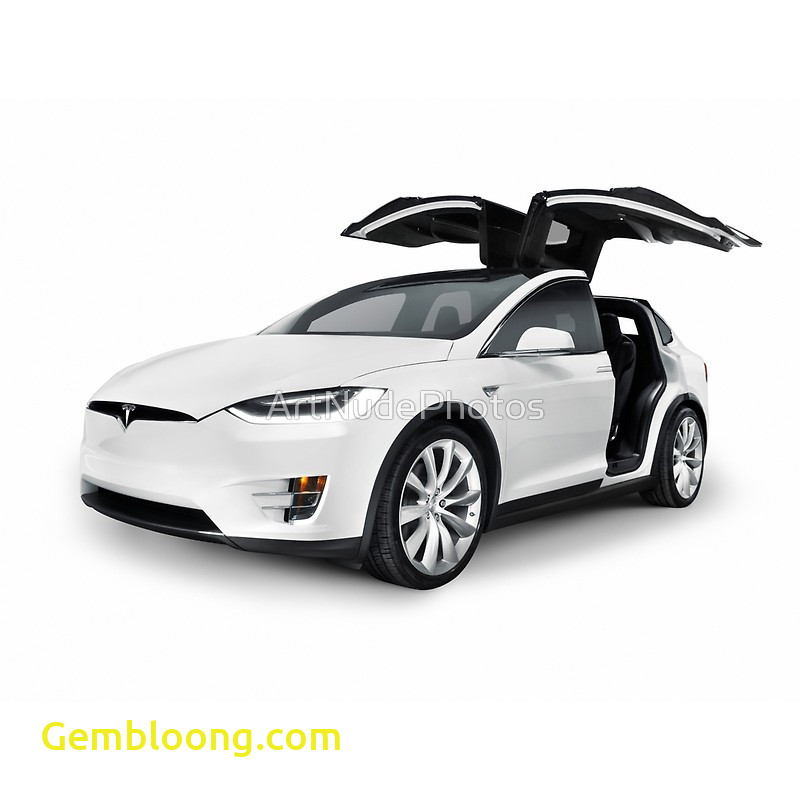 Tesla with Wings Lovely White 2017 Tesla Model X Luxury Suv Electric Car with
