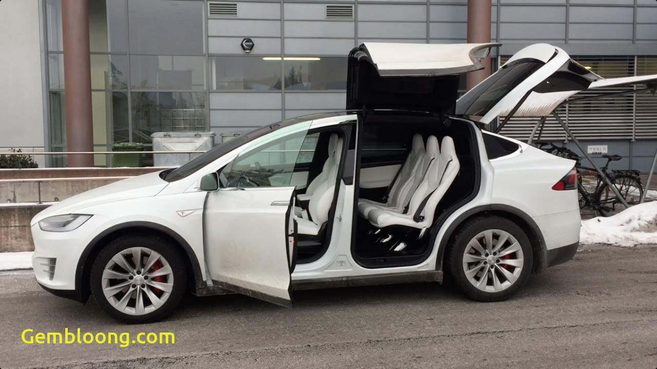 Tesla with Wings Unique Tesla Model X Falcon Wing Doors Tested In Tight Garage