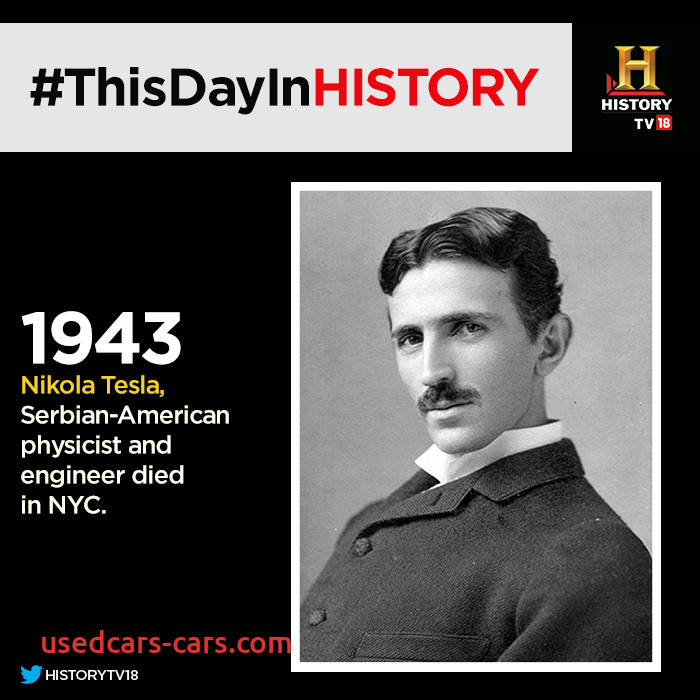 When Tesla Died Awesome Nikola Tesla Thisdayinhistory Great Inventor Of All Time