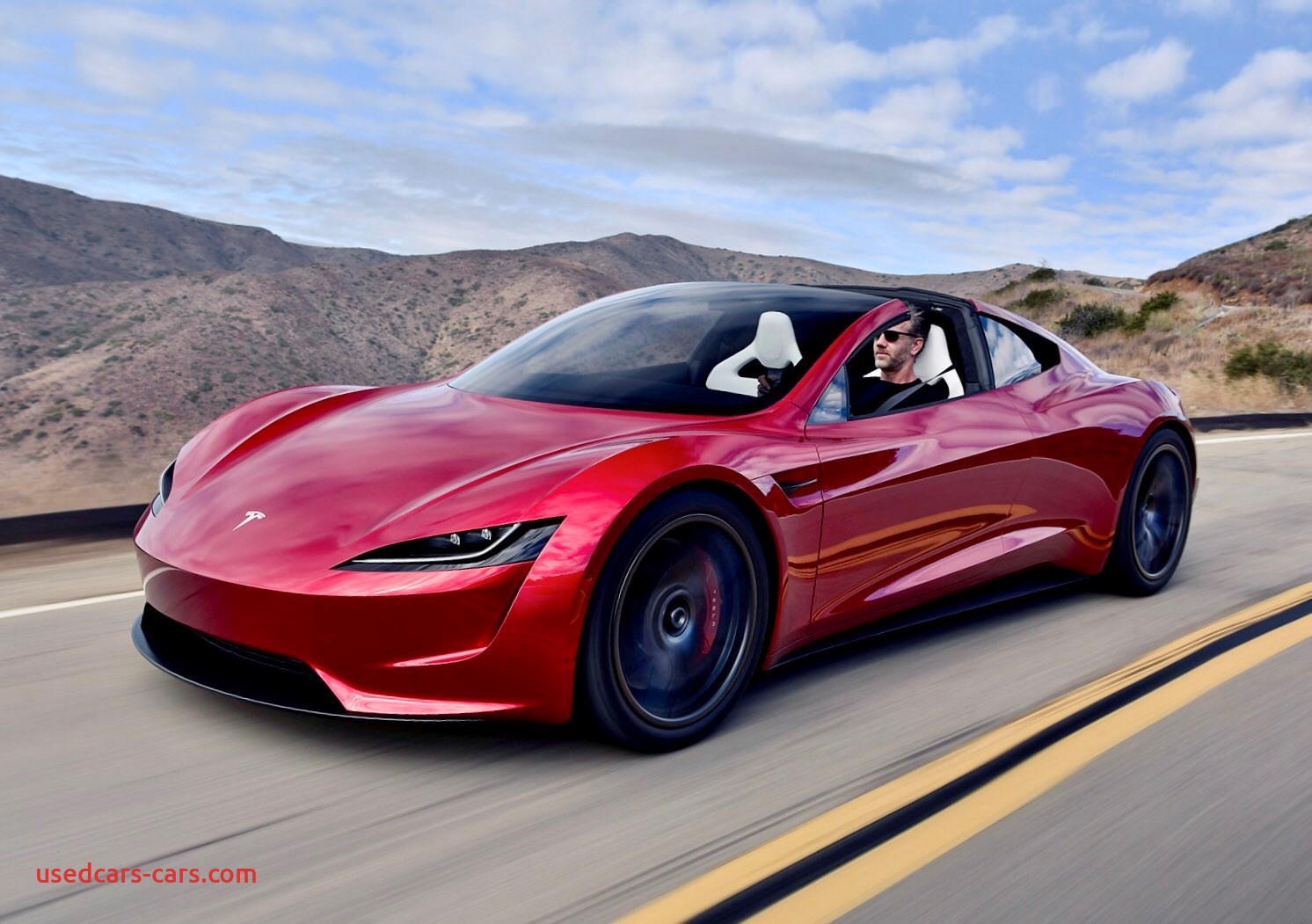 Where Tesla Car From Beautiful New Tesla Roadster Musk Hints at Rocket Powered