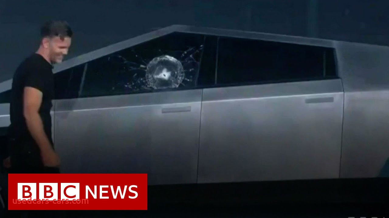 Why Tesla Truck Glass Broke Elegant Armor Glass Smashes In Tesla Truck Demo Fail Bbc News
