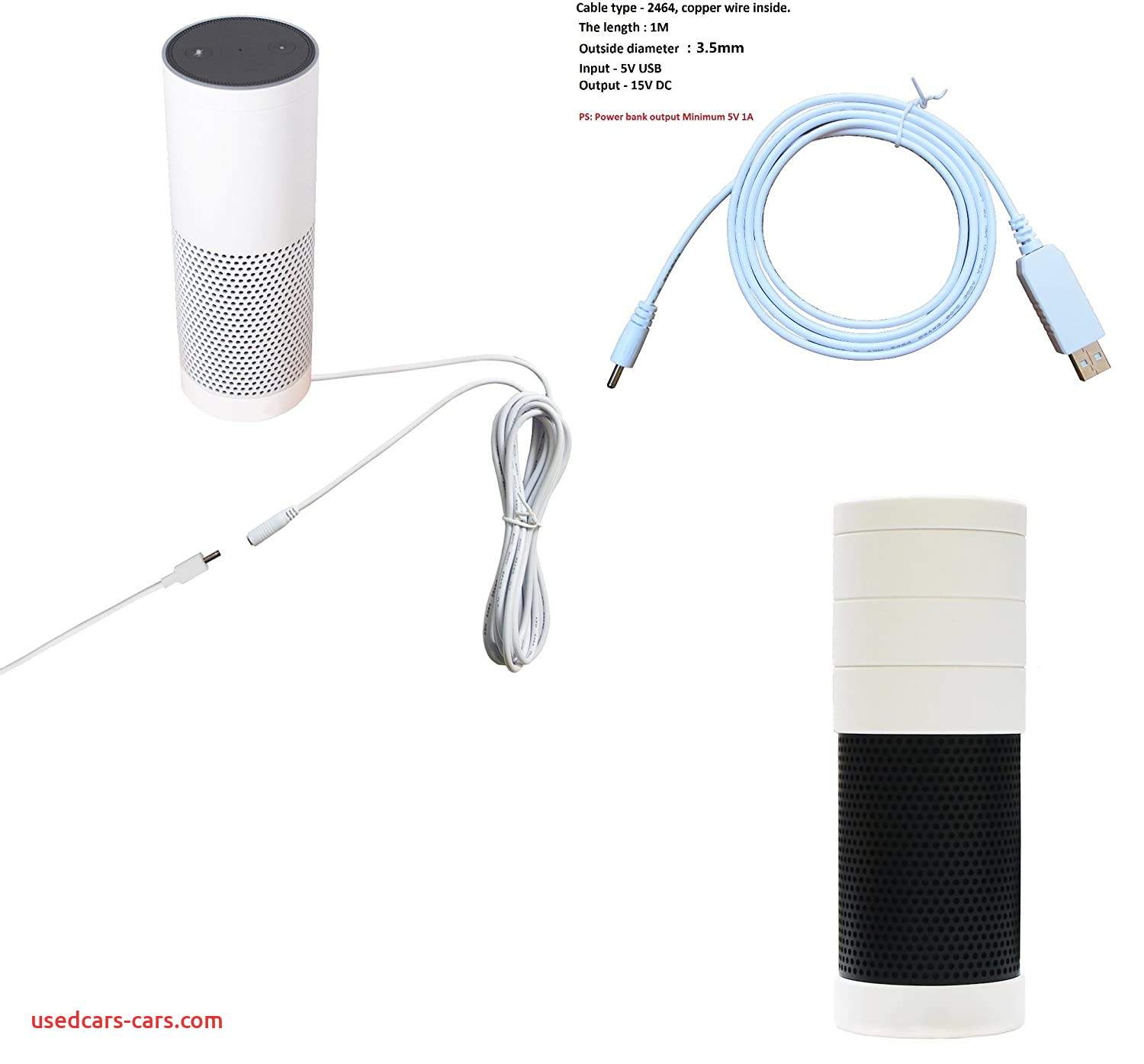 Amazon Echo Specs Fresh Meres 3 In 1 Echo Accessories Kit 3m Extension Cable Cord 1m Usb Power Charge Cable Silicone Skin Cover Case for Echo White