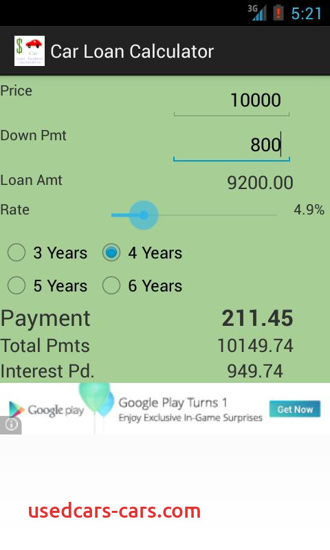 Car Payment Calculator App Best Of Car Loan Calculator android Apps On Google Play