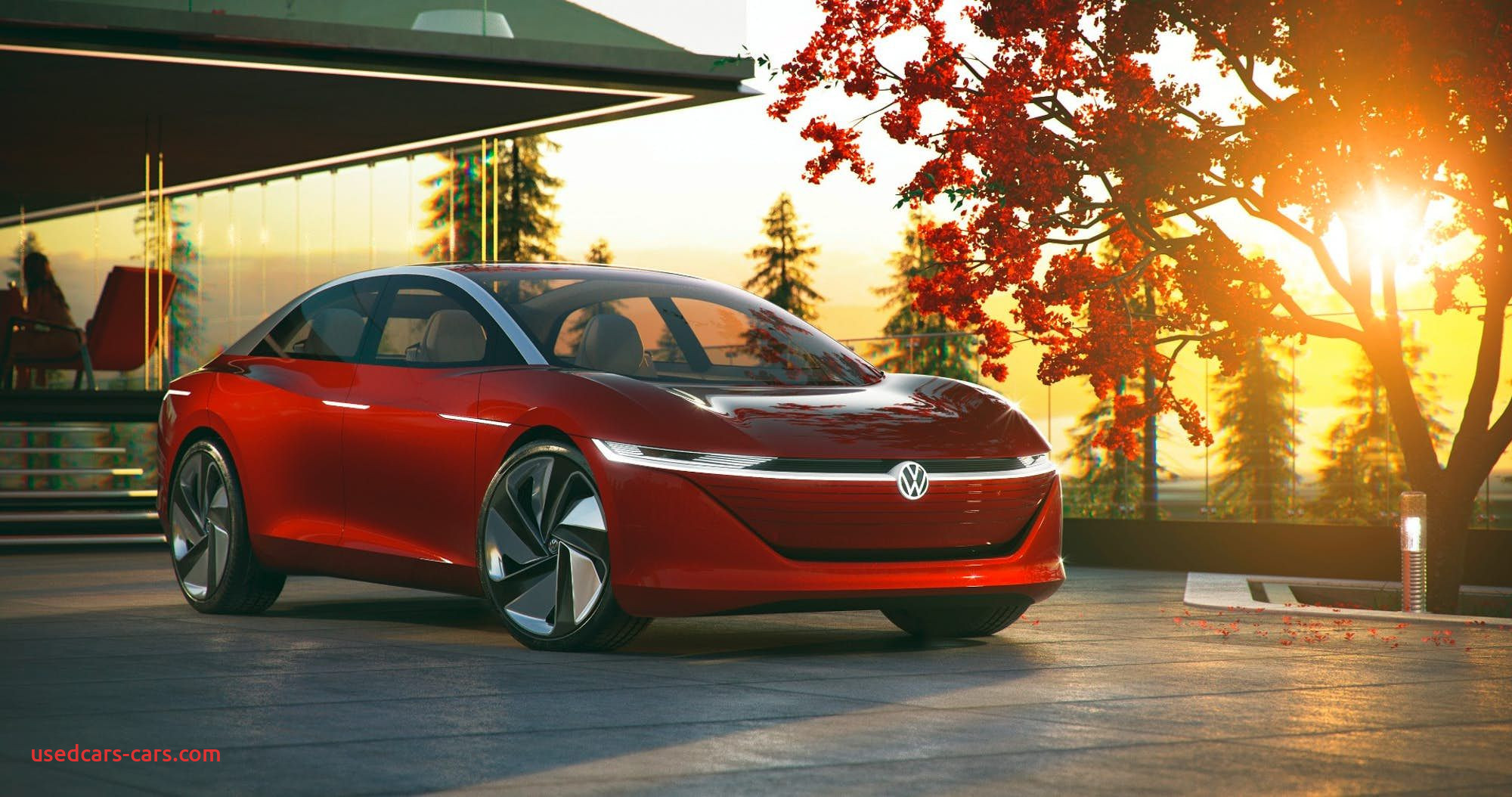 Golf Awd Awesome Volkswagen Details Futuristic I D Vizzion Concept