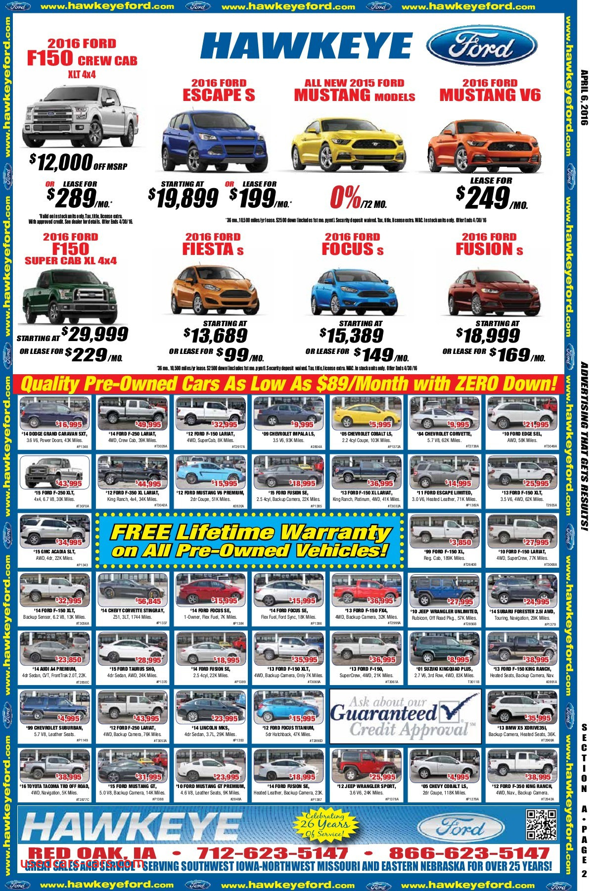 Lease A ford Escape Elegant 1835 Apr 6 2016 Exchange Newspaper Eedition Pages 1 44