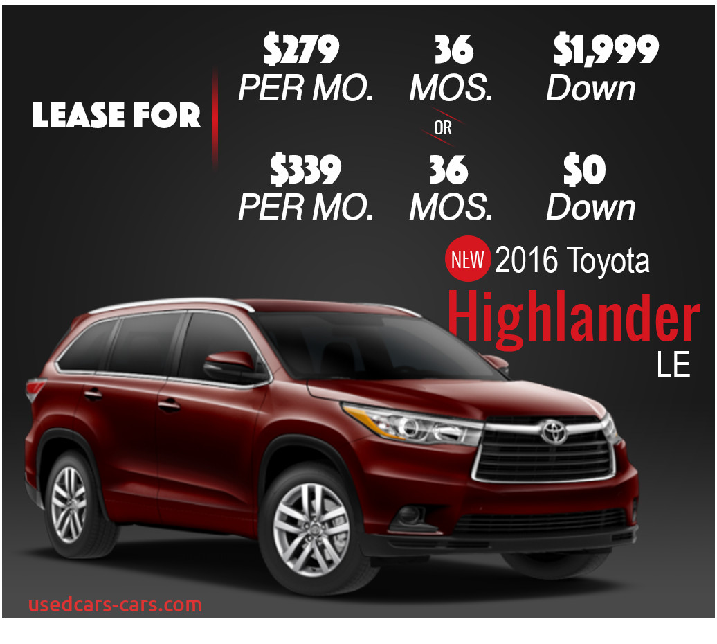 Toyota Highlander Lease Deal Elegant Lease Specials 2016 toyota Highlander San Antonio Red