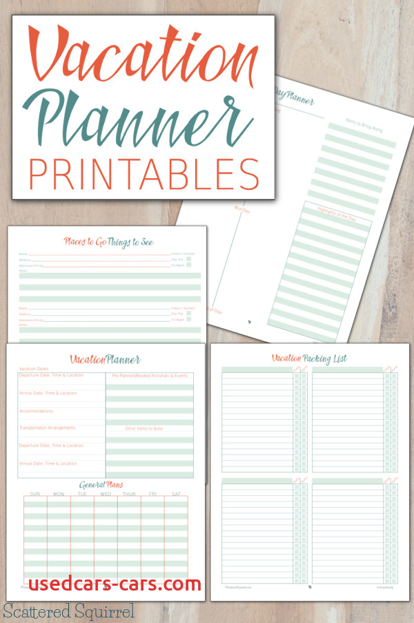 vacation planner printables plan the details focus on the fun
