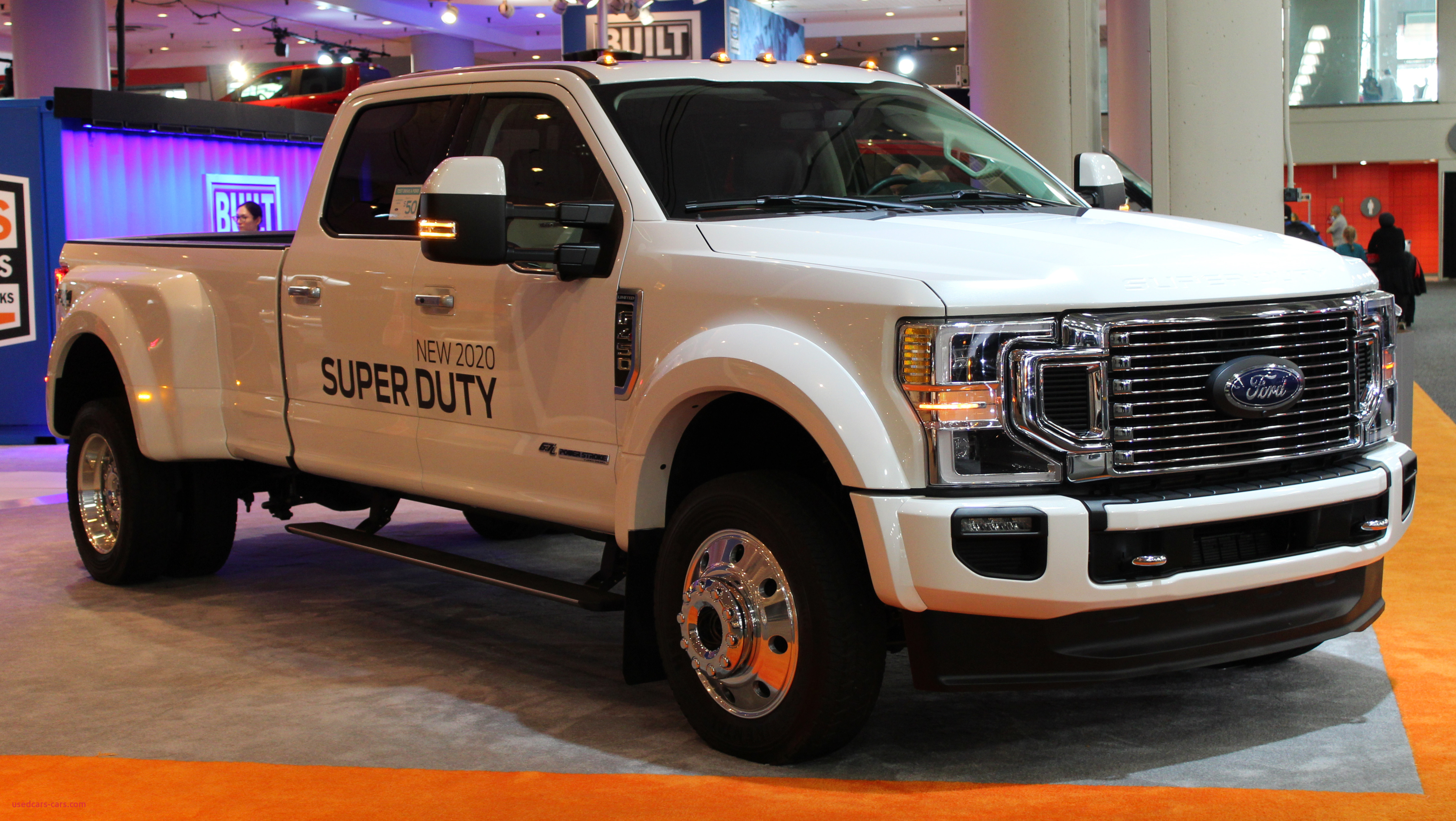 2020 Ford F 450 Limited Super Duty with Powerstroke Turbo Diesel engine front NYIAS 2019