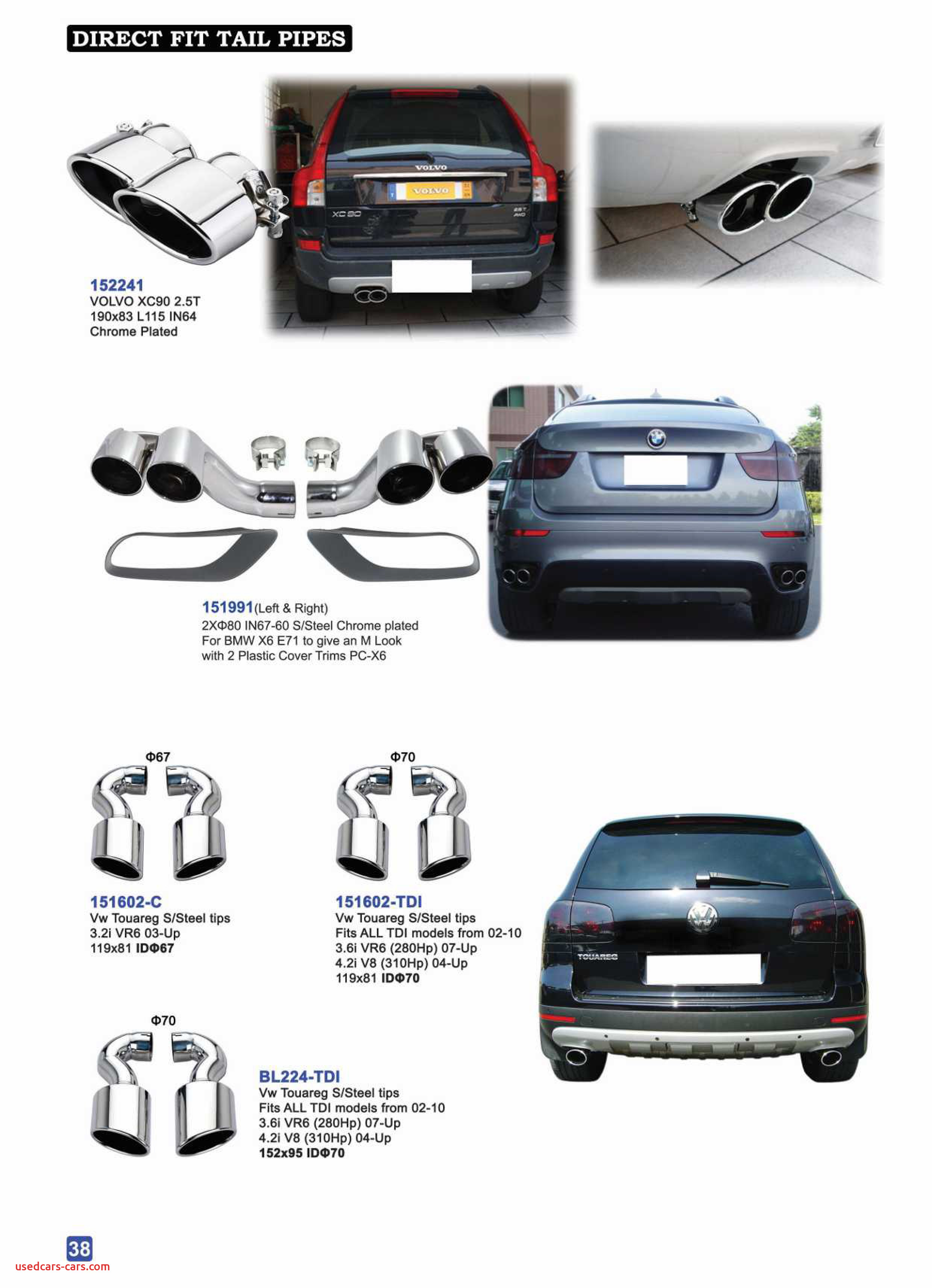 Cost Of 2020 ford Escape Awesome Details About Exhaust Pipes Tips for Bmw X6 E71 3 0d 5d 5i 4