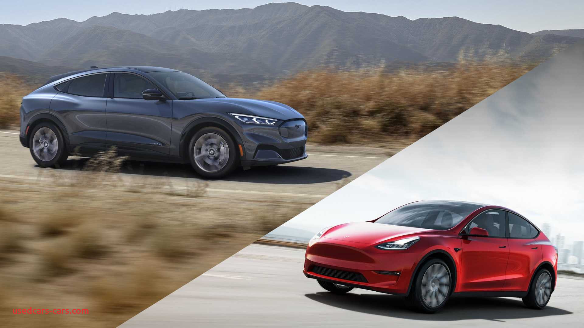 ford mustang mach e and tesla model y lead