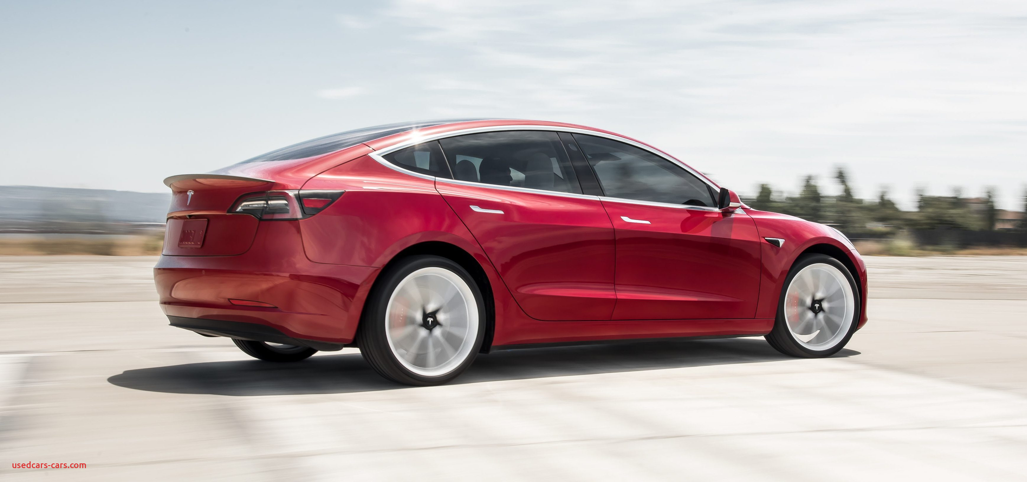 Model 3 Performance Red Rear Motion e
