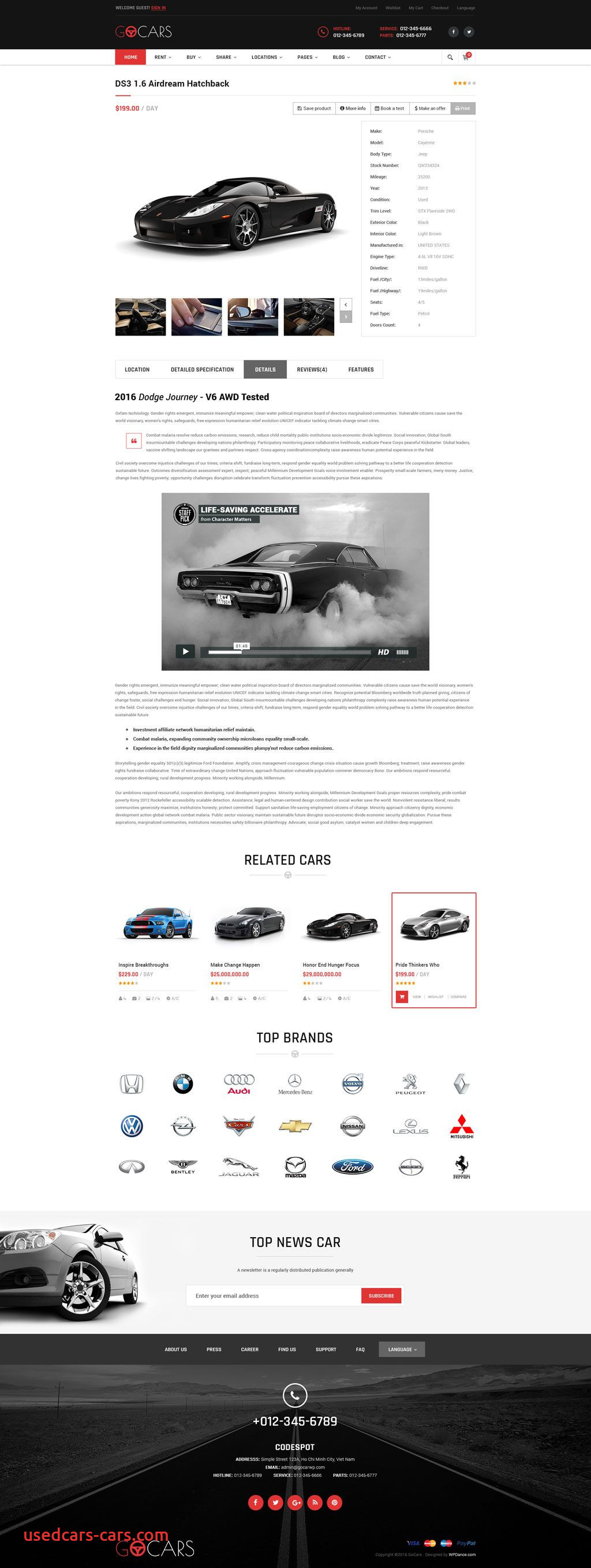 Used Cars for Sale Website Unique Go Cars Psd Template Design for Car Dealers Market