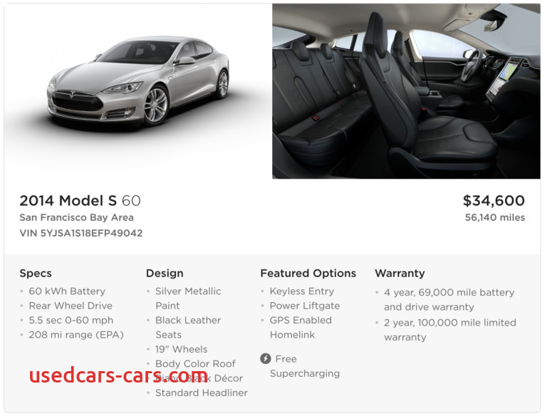 tesla opens up sale of a used tesla today
