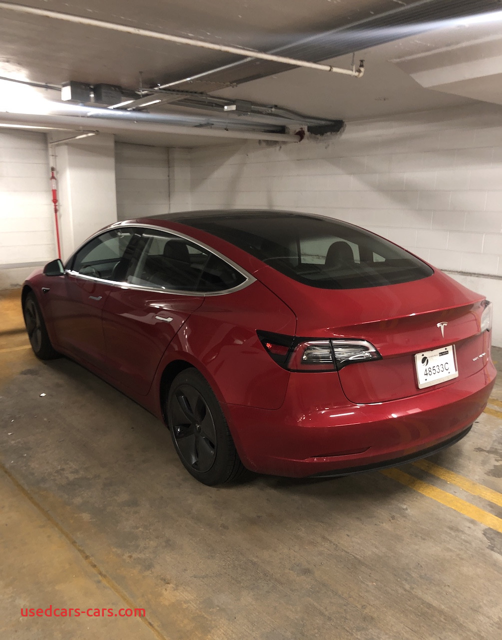 Used Tesla Model 3 New Model 3 2018 Red 9d6a4
