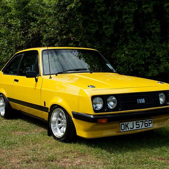 Australian Classic Cars for Sale Uk Lovely 'ford Escort Mk2 Rs 2000 Yellow' by Martyn Franklin