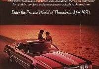 1970 ford Thunderbird 2-door Hardtop Luxury 1976 ford Thunderbird Vintage Ad Couple Parked by Lake