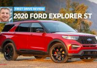 2020 ford Bronco 4 Door Mpg Luxury 2020 ford Explorer St First Drive Staying Power