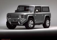 2020 ford Bronco 4 Door Mpg Luxury the 2020 ford Bronco Will Take A Swing at the Jeep Wrangler