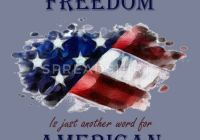 Another Name for Premium Lovely Freedom is Just Another Word for American Mens Premium T