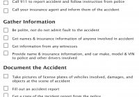 Auto Fax Report Free Inspirational Accident Checklist A Free Printable  Trust Auto