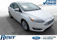 Autocheck Used Cars Luxury Used 2017 ford Focus for Sale at Ruxer ford Lincoln Inc