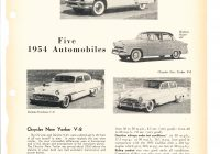 "Automobile History Reports Lovely Consumer Reports April 1954 ""five 1954 Automobiles"""