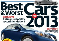 Best Car Check Report New Consumer Reports top 10 Picks for 2013 [videos]