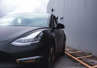 Black Tesla Lovely Tesla Model 3 Vinyl Wrap In 2020