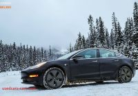 Can Tesla Drive In Snow Awesome these Tesla Model 3 In Snow Photos Will Send Chills Down