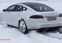 Can Tesla Drive In Snow Fresh Tesla Model S Test Drive In Fresh Snow Youtube