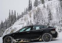 Can Tesla Drive In Snow Luxury Tesla Model 3 In Snow Doesnt Get Much Better Than This