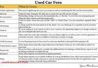 Car Fees Awesome How to Purchase A Used Car with Cash Yourmechanic Advice
