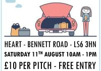Car for Sale Poster New Car Boot Sale Poster August 2018 Heart Centre