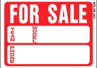 Car for Sale Template Unique for Sale Template Best Of for Sale Car Sign at Best Sample Excellent