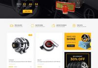 Car Parts Awesome Auto Parts Equipments and Accessories Opencart theme with